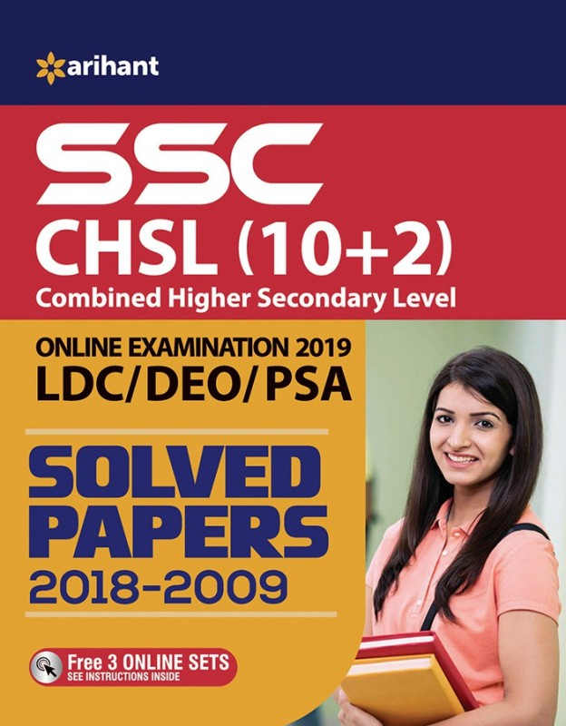 SSC CHSL (10+2) Solved Papers Combined Higher Secondary(English, Paperback, arihant)
