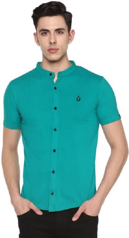 Urbano Fashion Men Solid Casual Green Shirt