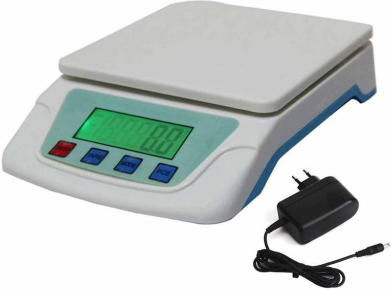 NIBBIN Digital Electronic Compact Scale ( TS-200) 10 KG Weighing Scale(White)