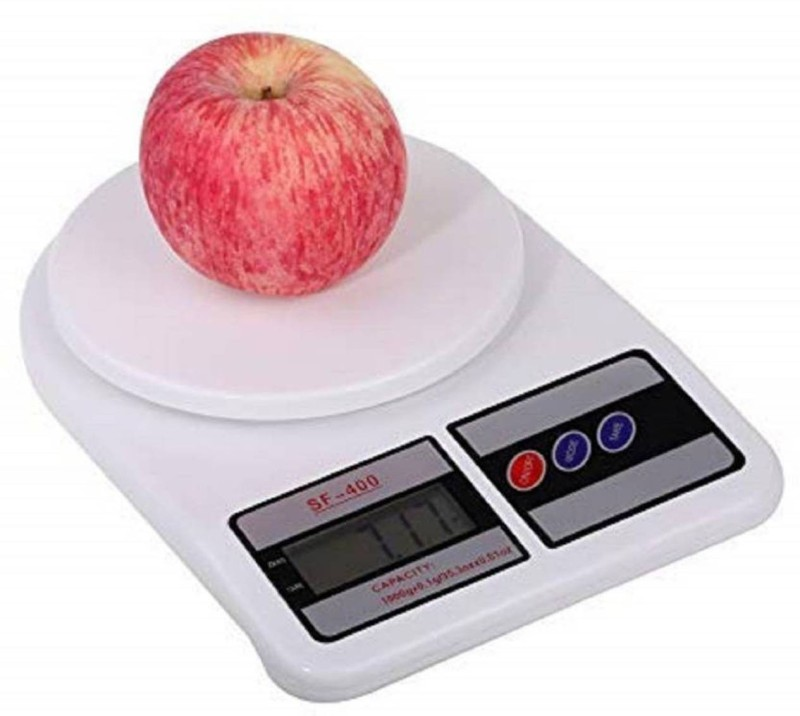 NIBBIN Upto 10kg Vegetable Kitchen SF 400 Adapter Weighing Scale Weighing Scale(White)