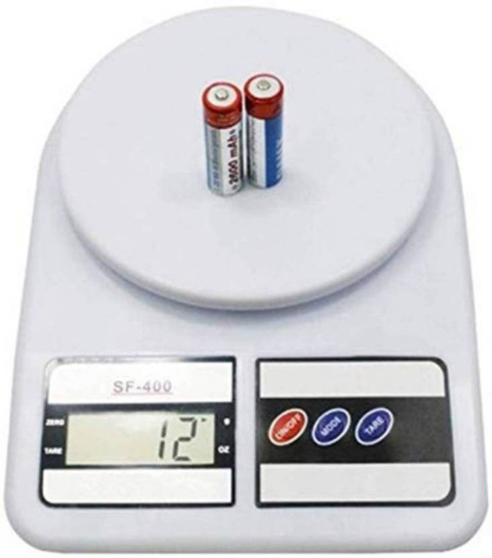 NIBBIN Weighing Machine For Kitchen With LED Light Weighing Scale(White)