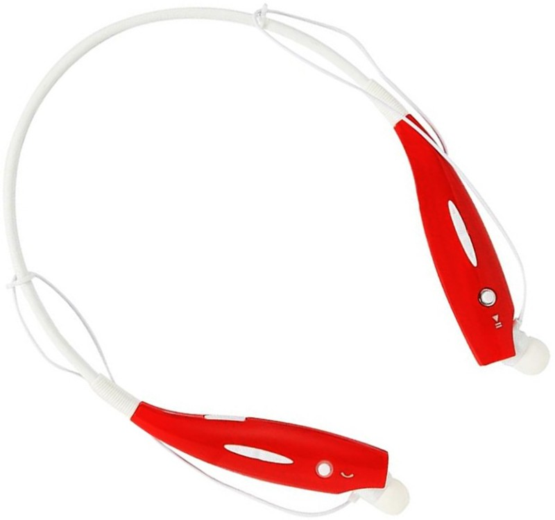 LIFE MUSIC Best arrivel HBS 730 Neckband Bluetooth Headset with Mic(Red, In the Ear)