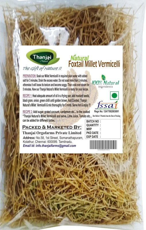 THANJAI NATURAL Foxtail Millet 1kg Pure Home Made 100% Natural Vermicelli 1000 g(Plain)