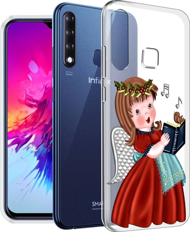 Nainz Back Cover for Infinix Smart 3 Plus(''ANGEL'', Grip Case, Silicon)