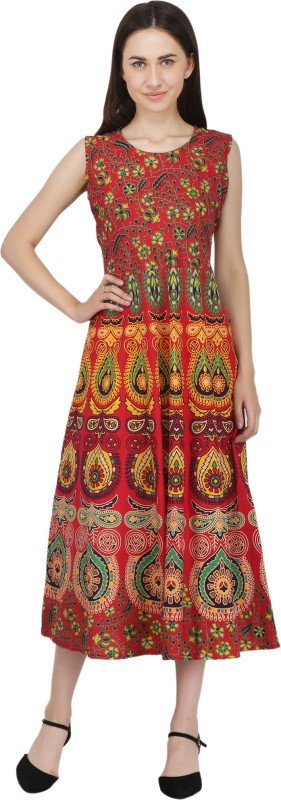 Decot Paradise Women Maxi Orange Dress