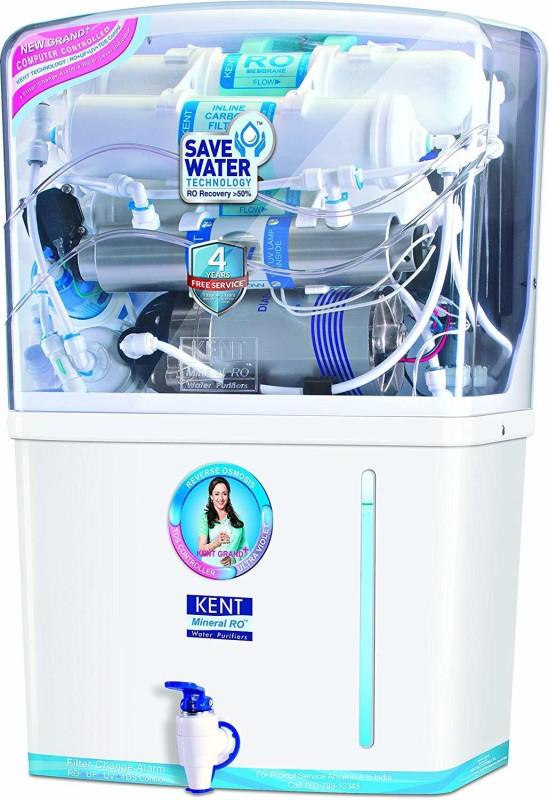 KENT RO GRAND PLUS 8 L RO + UV + UF + TDS Water Purifier(White)