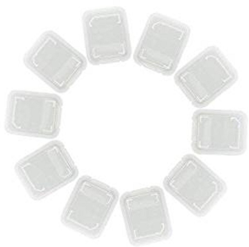 Priyam 20pcs Storage Case Holder Covers for Micro SD Memory Cards Storage Box(White)