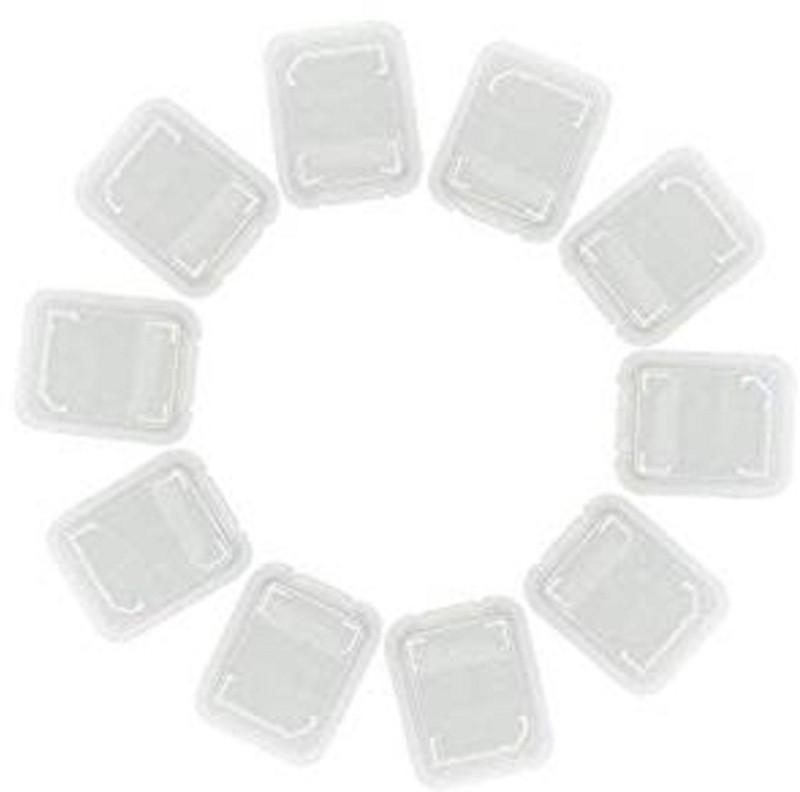 Priyam 20pcs Storage Case Holder Covers for Micro SD Memory Cards Storage Box(White)