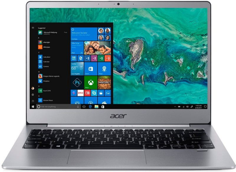 Acer Swift 3 Core i3 8th Gen - (4 GB/256 GB SSD/Windows 10 Home) SF313-51-30EP Thin and Light Laptop(13.3 inch, Sparkly Silver, 1.3 kg)