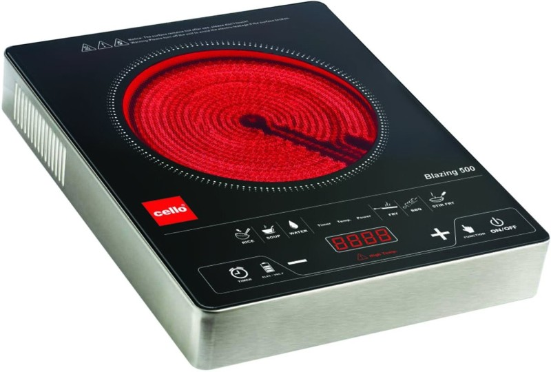 Cello Blazing Induction Cooktop(Black, Touch Panel)