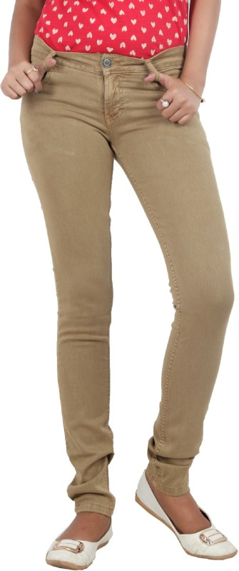 Obeo Slim Women Beige Jeans