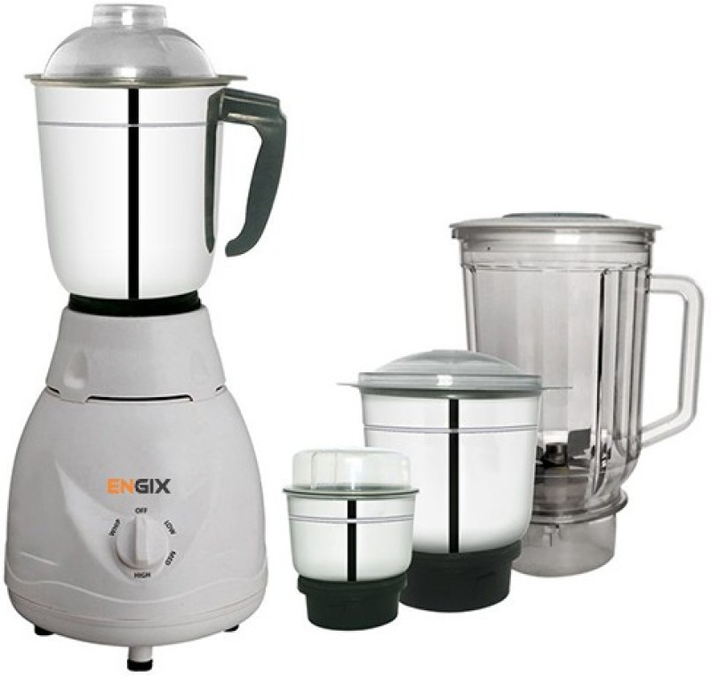 Engix Mini Diamond 4 jar Mixer Grinder 750W with One Year Warranty 750 Mixer Grinder(White, 4 Jars)