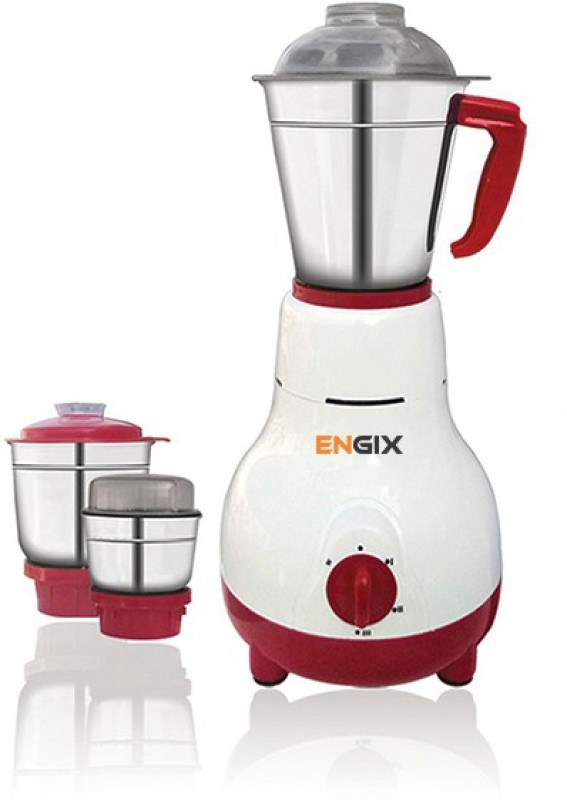Engix Mini Matka 3 jar Mixer Grinder 650W with One Year Warranty 650 Mixer Grinder(White, 3 Jars)