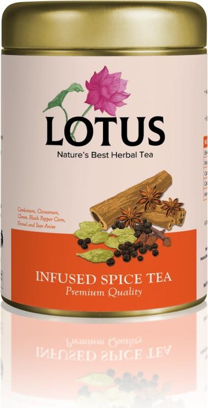 Lotus INFUSED SPICE TEA(80 GRAMS) Assorted Herbal Tea Tin(80 g)