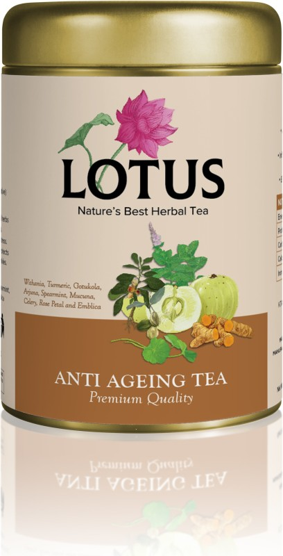 Lotus ANTI AGEING TEA(80 GRAMS) Assorted Herbal Tea Tin(80 g)