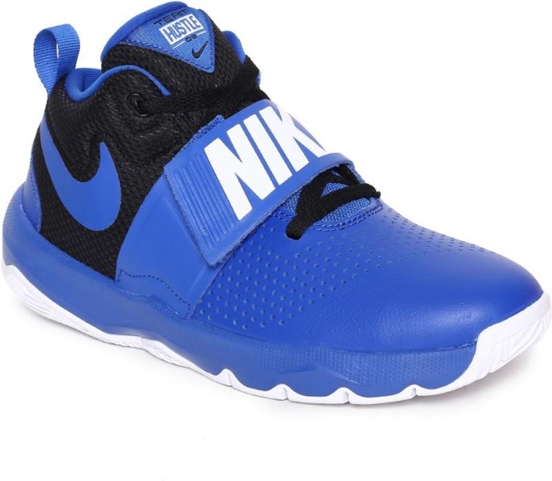 Nike Boys Lace Basketball Shoes(Blue)