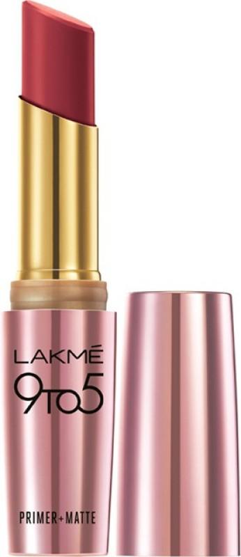 Lakme 9 to 5 Primer Plus Matte Lip Color(Berry Base, 3.6 g)