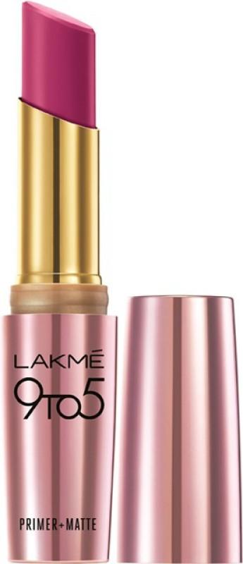 Lakme 9 to 5 Primer Plus Matte Lip Color(Plum Pick, 3.6 g)