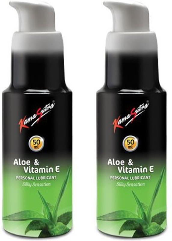 KamaSutra Water Based Lubricant-Aloe Vera & Vitamin E (50ml*2) Lubricant(100 ml)