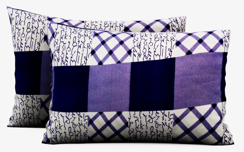 IWS 3D Printed Pillows Cover(Pack of 2, 45 cm*69 cm, Multicolor)