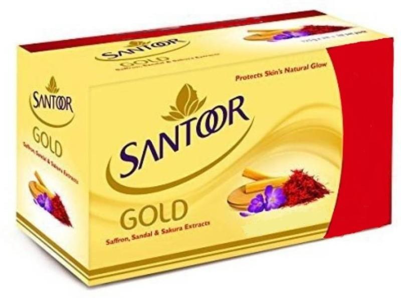 Santoor Gold Soap(375 g, Pack of 3)