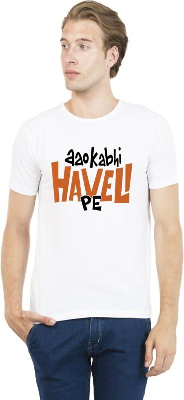 sesky Printed Men Round Neck White T-Shirt