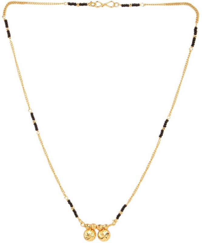 RAMDEV ART FASHION JEWELLERY stylish and trendy mangalsutra and necklace Copper, Alloy, Metal Mangalsutra