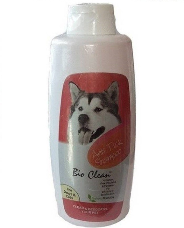 Bio Clean All natural, free of sulfates & parabens. For Dry, Itchy & Sensitive Skin Flea and Tick, Allergy Relief, Anti-parasitic, Anti-microbial, Anti-fungal Anti Tick Cat & Dog Shampoo(200 ml)