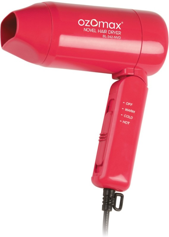 Ozomax NOVEL HOT & COLD 1000 WATT FOLDABLE HAIR DRYER BL-342-NVD Hair Dryer(1000 W, Red)
