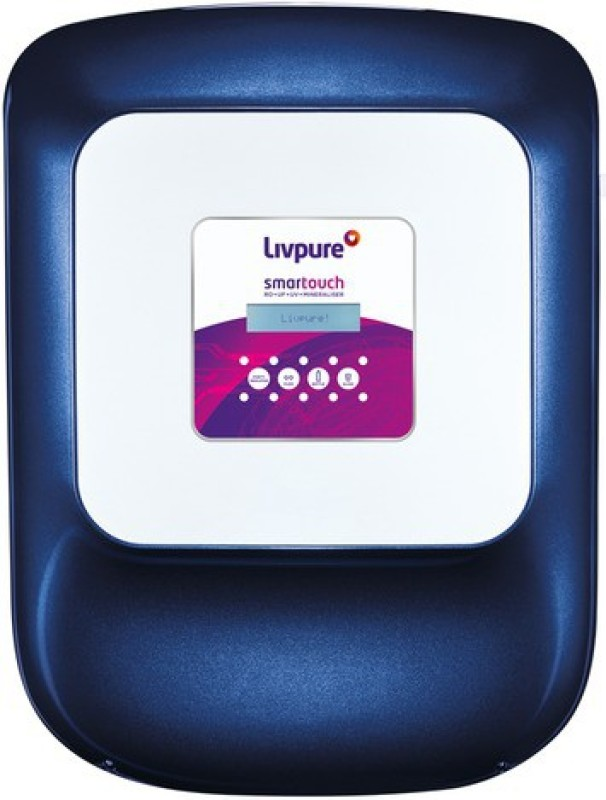 livpure Smart Touch 8.5 L RO + UV + UF Water Purifier(Metallic Blue and White)