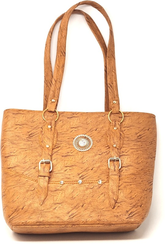 GC Guru Creation Women Tan Shoulder Bag