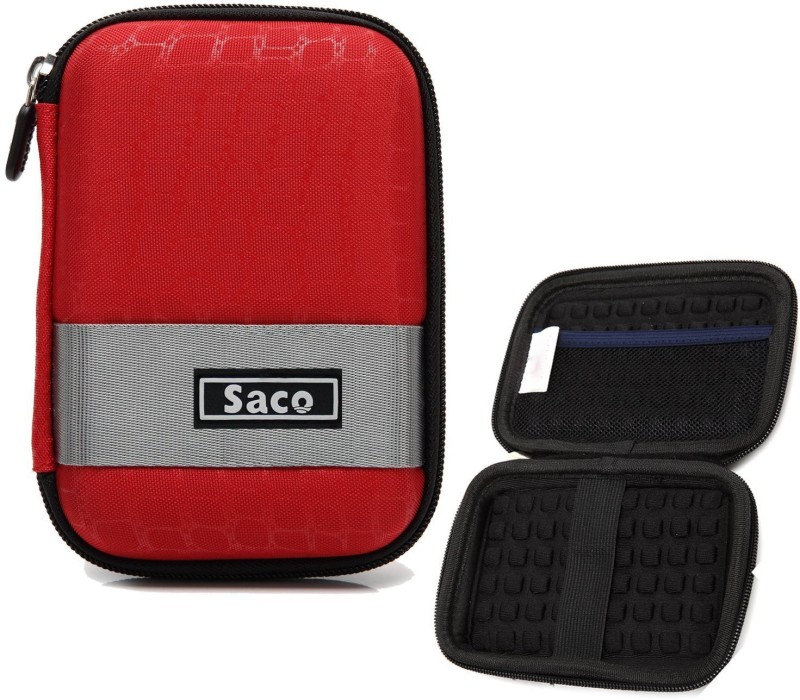 Saco External Hard disk Bag Case 2.5 inch 2.5 inch Compatible enclosure for Toshiba, Western Digital, Seagate, Dell, Samsung, Sony, Hp, Hitachi, WD, Transcend(For All 2.5 Inch External Hard drives, Red)
