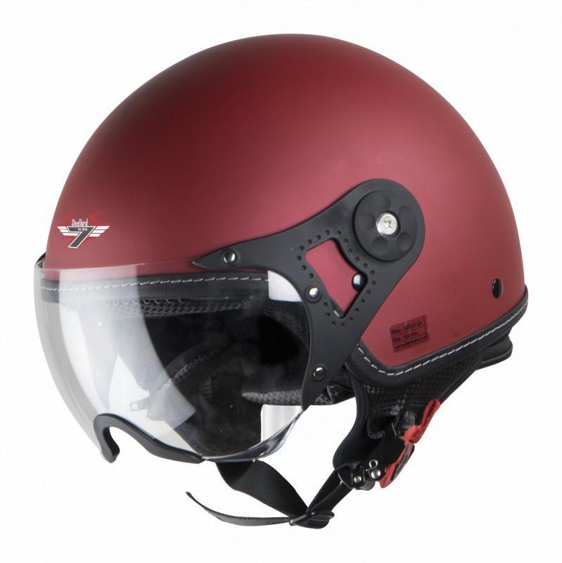 Steelbird SBH-10 BUNKER Motorbike Helmet(Matt Maroon)