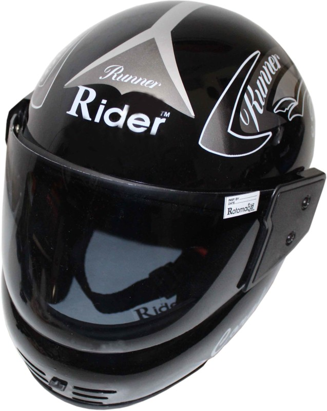 Rider star RIDER RUNNER NEW 2019 Motorbike Helmet(Silver)
