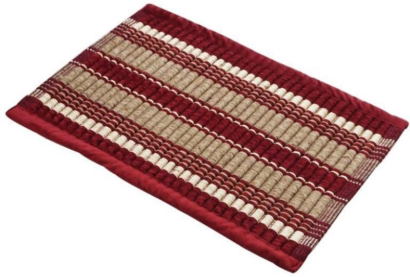 Bluegrass Cotton Bathroom Mat(Red, Medium)