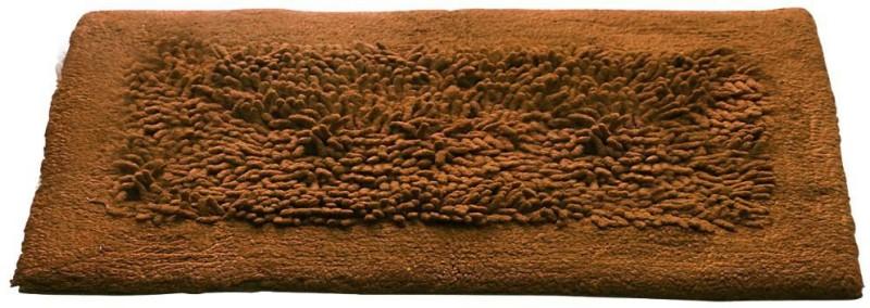 Bluegrass Cotton Bathroom Mat(Brown, Medium)
