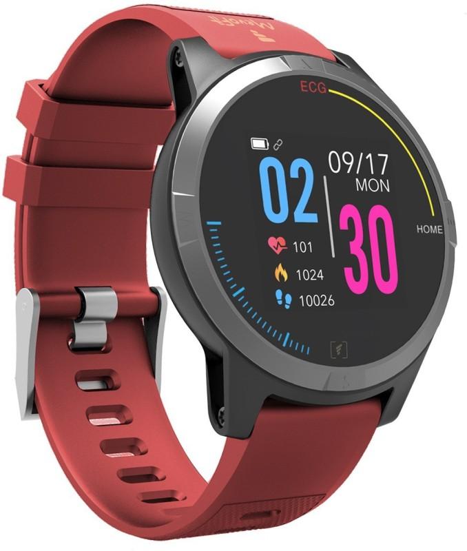 MevoFit Race-Thrust ECG-Smart-Watch Red Smartwatch(Red Strap Free Size)