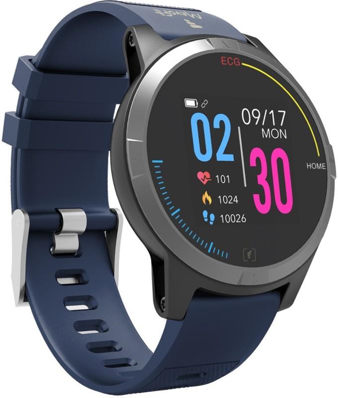 MevoFit Race-Thrust ECG-Smart-Watch Blue Smartwatch(Blue Strap Free Size)