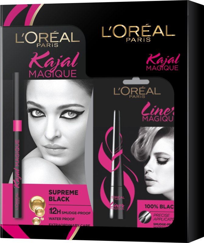 L'Oreal Paris Kajal with Liner Magique(2 Items in the set)