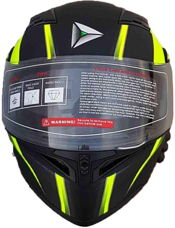 Greenstone G6 SMart Bluetooth with Brake/Indicator Light & Voice Motorbike Helmet(Black & Green)