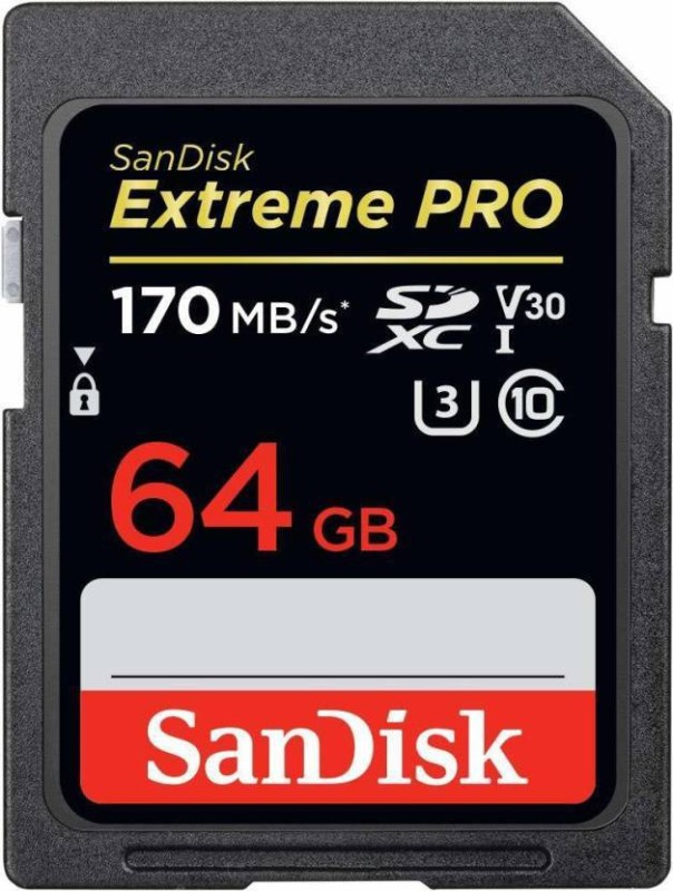 SanDisk SDXC For Camera 64 GB Extreme Pro SDHC Class 10 170 MB/s Memory Card