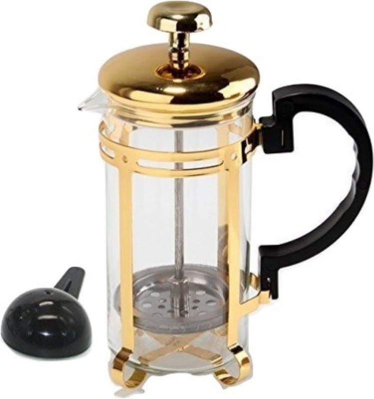 Aggarwal Crockery & Scientific Stores coffee plunger Golden 350ml 8 Cups Coffee Maker(Transparent)