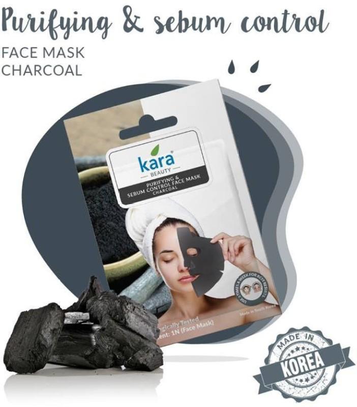 Kara Purifyng And Sebum Control Charcoal Face Mask (pack Of 80)(240 g)