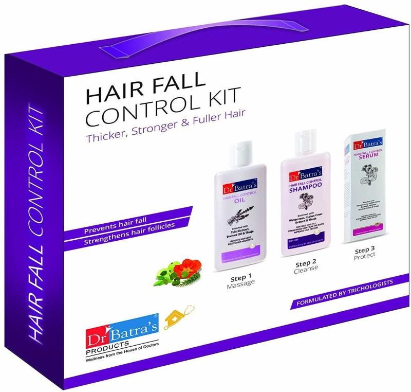 DR BATRA Hair Fall Control Kit Thicker, Stronger & Fuller Hair In 3 Easy Steps(525 ml)