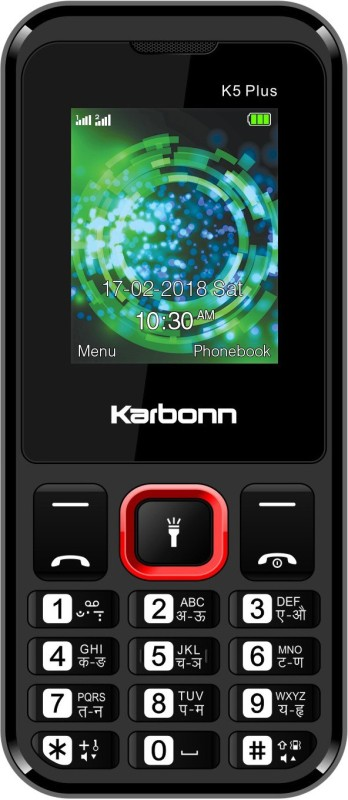 Karbonn K5 Plus(Black&Red)
