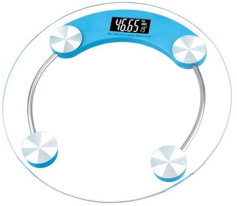 Mezire  Unbreakable Glass Electronic Scale Weighing Scale  (Blue) Weighing Scale(Blue)