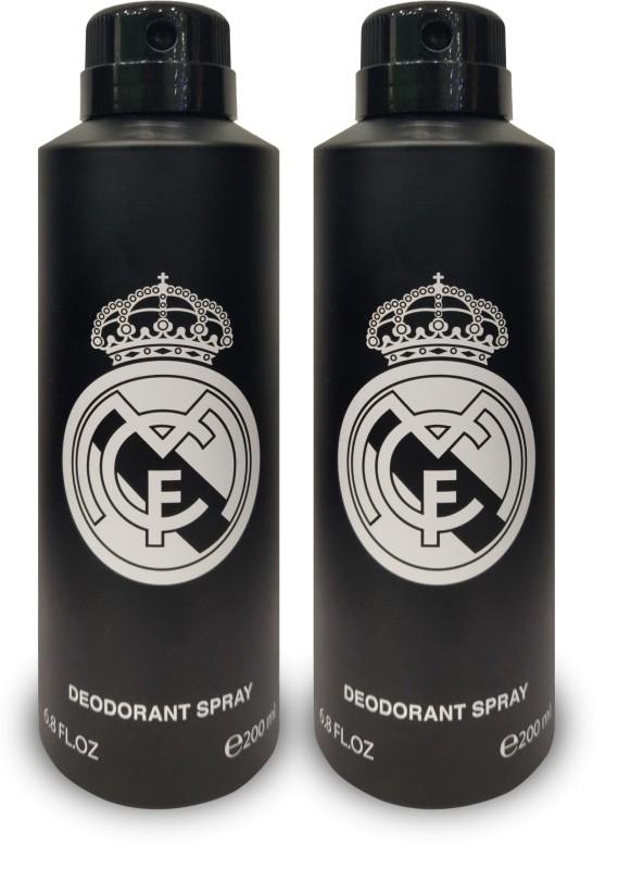 Real Madrid BLACK DEODORNAT PACK OF 2 200ml Each Deodorant Spray - For Men & Women(200 ml, Pack of 2)