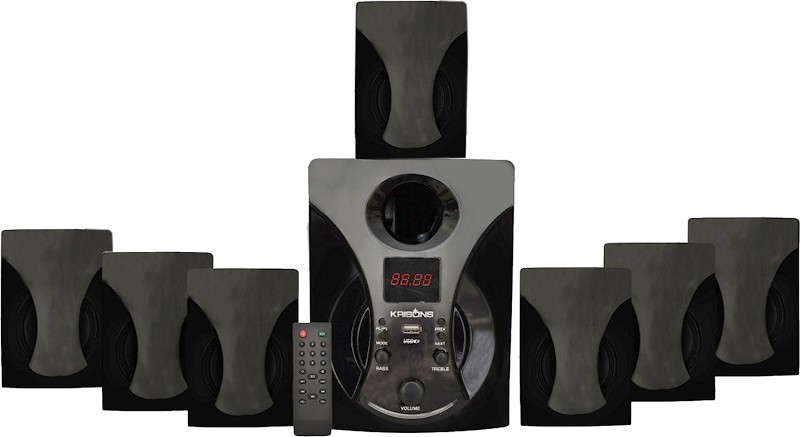 KRISONS Zeven Bluetooth Home Theatre(Black, 7.1 Channel)