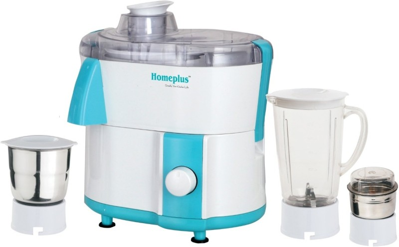 Homeplus 4 500-Watt 500 Juicer Mixer Grinder(Blue, 3 Jars)