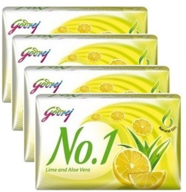 Godrej No.1 lime and alovera 100 gm soap (pack of 4)(400 g, Pack of 4)